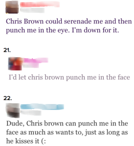 upsetting reactions - chris brown