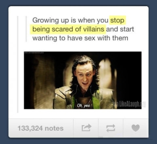 stop being scared of villains